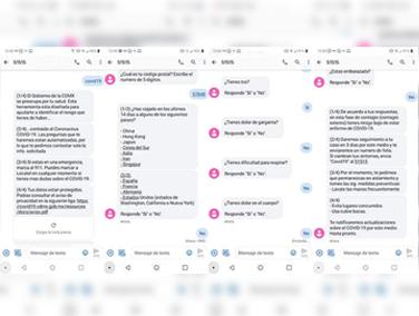 Mensajes SMS para diagnóstico de coronavirus en CDMX busca evitar el colapso del sistema de salud